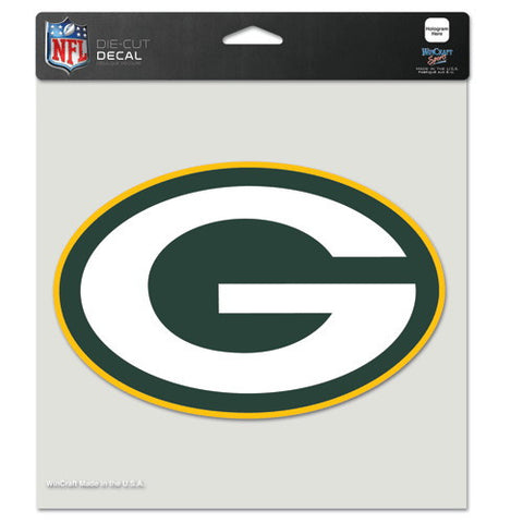 Green Bay Packers Full Color Car Window Sticker Decal 8x8 Inches