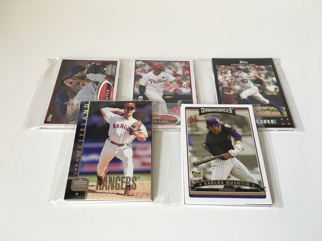 MLB Baseball Cards Party Favors Stocking Stuffer - (5) Sets of 10 Baseball Cards including Topps, Fleer, Upper Deck