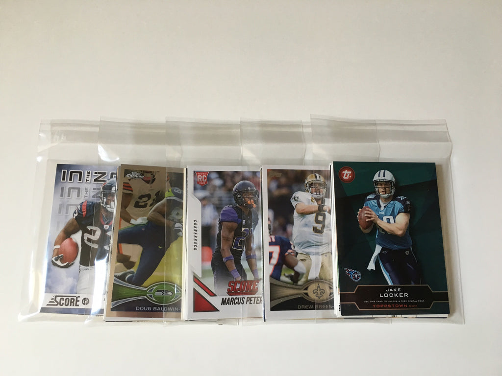 NFL Football Cards Party Favors Stocking Stuffer - (5) Sets of 10 Football Cards including Topps, Fleer, Upper Deck