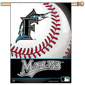 Miami Marlins Vertical Flag Banner