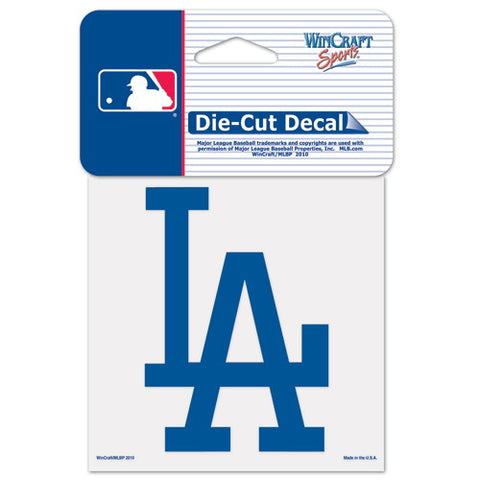 Los Angeles Dodgers Full Color Car Window Sticker Decal 4x4 Inches