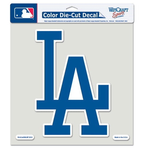 Los Angeles Dodgers Full Color Car Window Sticker Decal 8x8 Inches