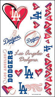 Los Angeles Dodgers Temporary Tattoo Hearts Edition