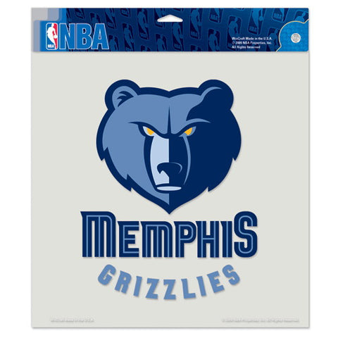 Memphis Grizzlies Full Color Car Window Sticker Decal 8x8 Inches