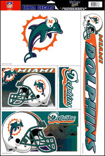 Miami Dolphins Decals Window Clings