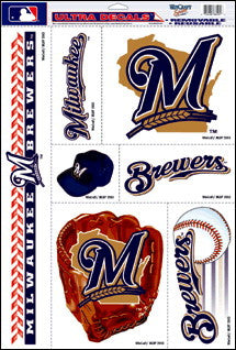 Milwaukee Brewers Decals Window Clings