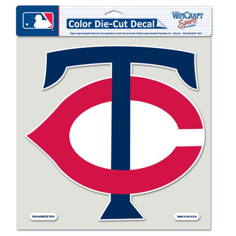 Minnesota Twins Full Color Car Window Sticker Decal 8x8 Inches