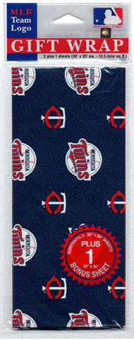 Minnesota Twins Wrapping Paper 20 Square Foot Flat Pack