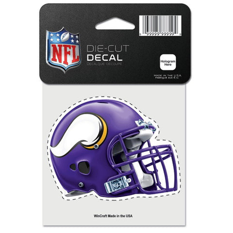 Minnesota Vikings Full Color Car Window Sticker Decal 4x4 Inches