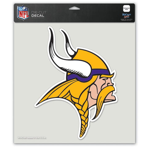 Minnesota Vikings Full Color Car Window Sticker Decal 8x8 Inches