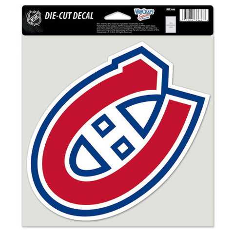 Montreal Canadiens Full Color Car Window Sticker Decal 8x8 Inches