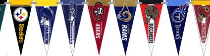 NFL Football 10 Foot Pennant String