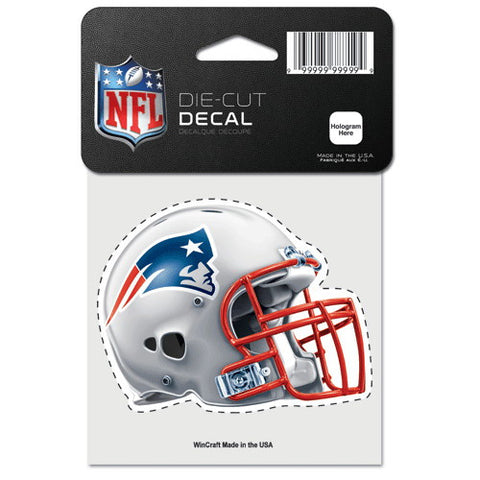 New England Patriots Full Color Car Window Sticker Decal 4x4 Inches