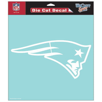 New England Patriots Car Window Sticker Decal 8x8 Inches