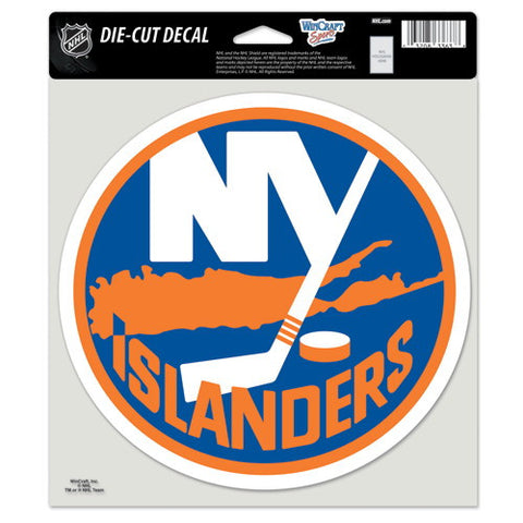 New York Islanders Full Color Car Window Sticker Decal 8x8 Inches