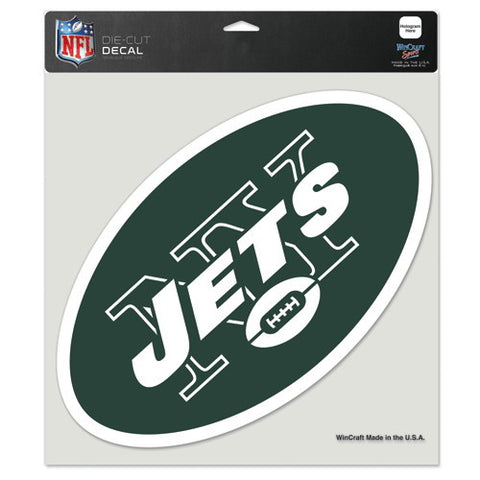 New York Jets Full Color Car Window Sticker Decal 8x8 Inches