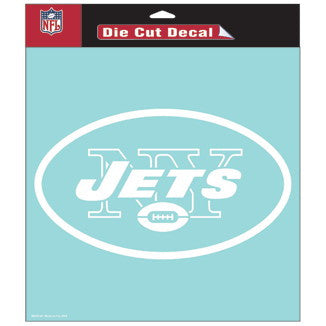 New York Jets Car Window Sticker Decal 8x8 Inches