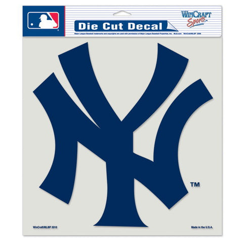 New York Yankees Full Color Car Window Sticker Decal 8x8 Inches