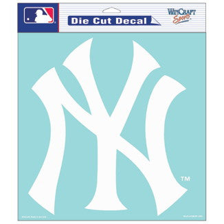 New York Yankees Car Window Sticker Decal 8x8 Inches