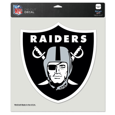 Oakland Raiders Full Color Car Window Sticker Decal 8x8 Inches