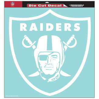Oakland Raiders Car Window Sticker Decal 8x8 Inches