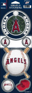Anaheim Angels Stickers MLB Prismatic