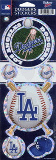 Los Angeles Dodgers Stickers MLB Prismatic