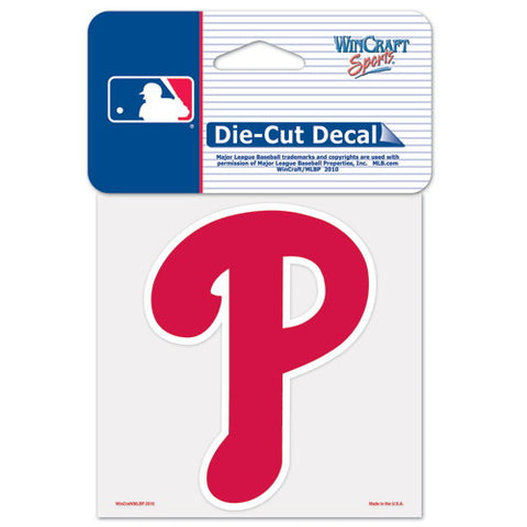 Philadelphia Phillies Full Color Car Window Sticker Decal 4x4 Inches