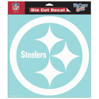 Pittsburgh Steelers Car Window Sticker Decal 8x8 Inches
