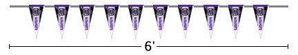 Sacramento Kings 6 Foot Pennant String