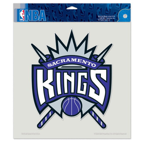 Sacramento Kings Full Color Car Window Sticker Decal 8x8 Inches