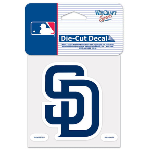 San Diego Padres Full Color Car Window Sticker Decal 4x4 Inches