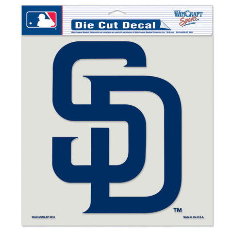 San Diego Padres Full Color Car Window Sticker Decal 8x8 Inches