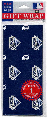 San Diego Padres Wrapping Paper 20 Square Foot Flat Pack