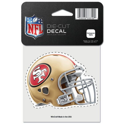 San Francisco 49ers Full Color Car Window Sticker Decal 4x4 Inches