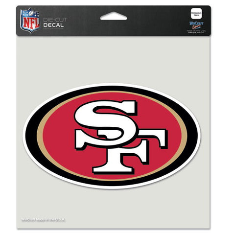 San Francisco 49ers Full Color Car Window Sticker Decal 8x8 Inches