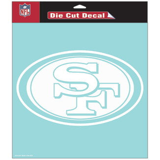 San Francisco 49ers Car Window Sticker Decal 8x8 Inches