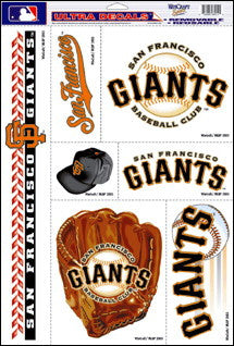 San Francisco Giants Decals Window Clings