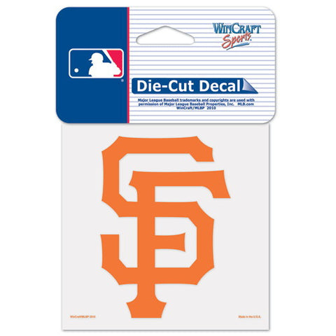 San Francisco Giants Full Color Car Window Sticker Decal 4x4 Inches