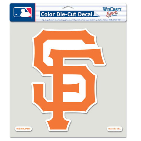 San Francisco Giants Full Color Car Window Sticker Decal 8x8 Inches