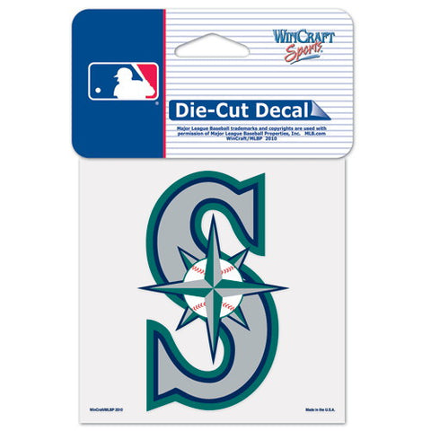 Seattle Mariners Full Color Car Window Sticker Decal 4x4 Inches