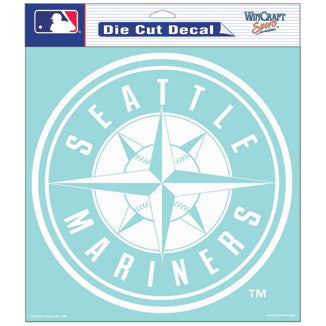 Seattle Mariners Car Window Sticker Decal 8x8 Inches