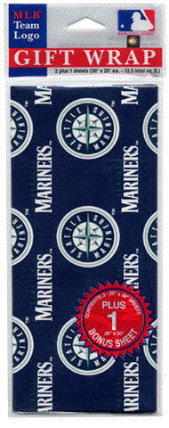 Seattle Mariners Wrapping Paper 20 Square Foot Flat Pack