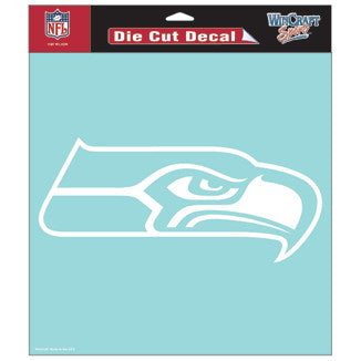 Seattle Seahawks Car Window Sticker Decal 8x8 Inches