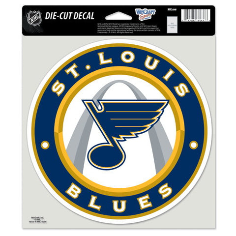 St. Louis Blues Full Color Car Window Sticker Decal 8x8 Inches