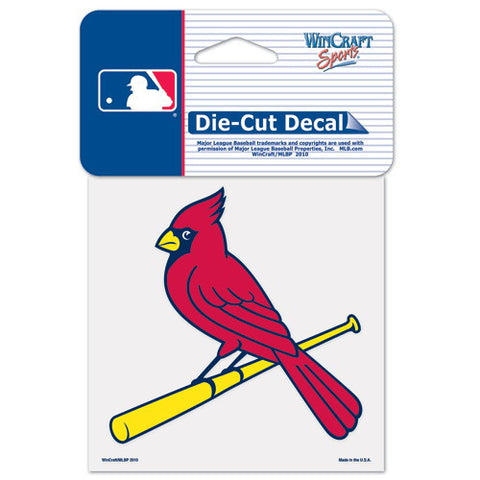 St. Louis Cardinals Full Color Car Window Sticker Decal 4x4 Inches