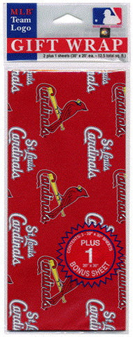 St. Louis Cardinals Wrapping Paper 20 Square Foot Flat Pack