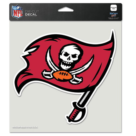 Tampa Bay Buccaneers Full Color Car Window Sticker Decal 8x8 Inches