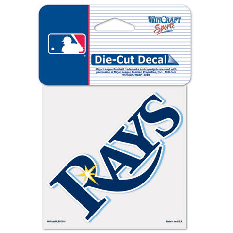 Tampa Bay Rays Full Color Car Window Sticker Decal 4x4 Inches
