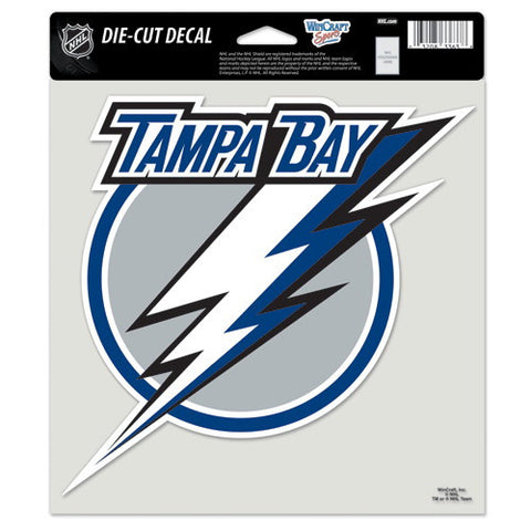 Tampa Bay Lightning Full Color Car Window Sticker Decal 8x8 Inches